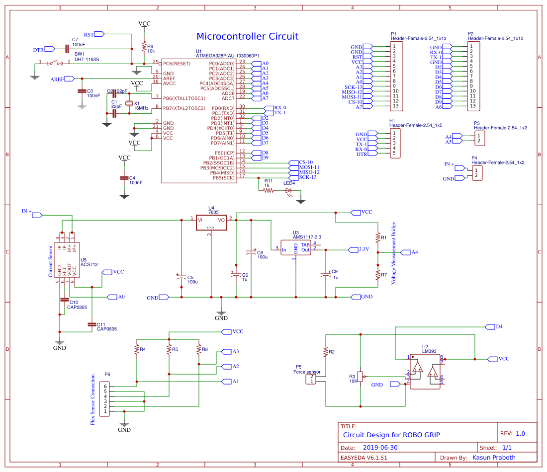 Final PCB design - EasyEDA