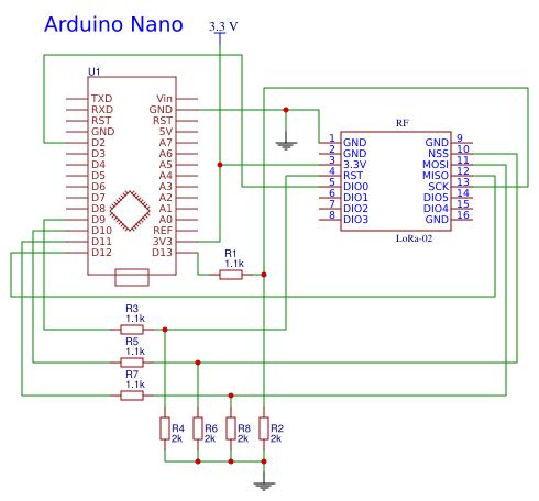 LoRa - Arduino Nano - EasyEDA