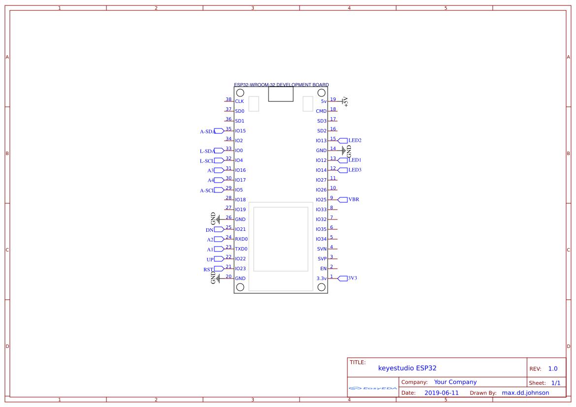 ESP32 Desk Breakout Dev Board - EasyEDA