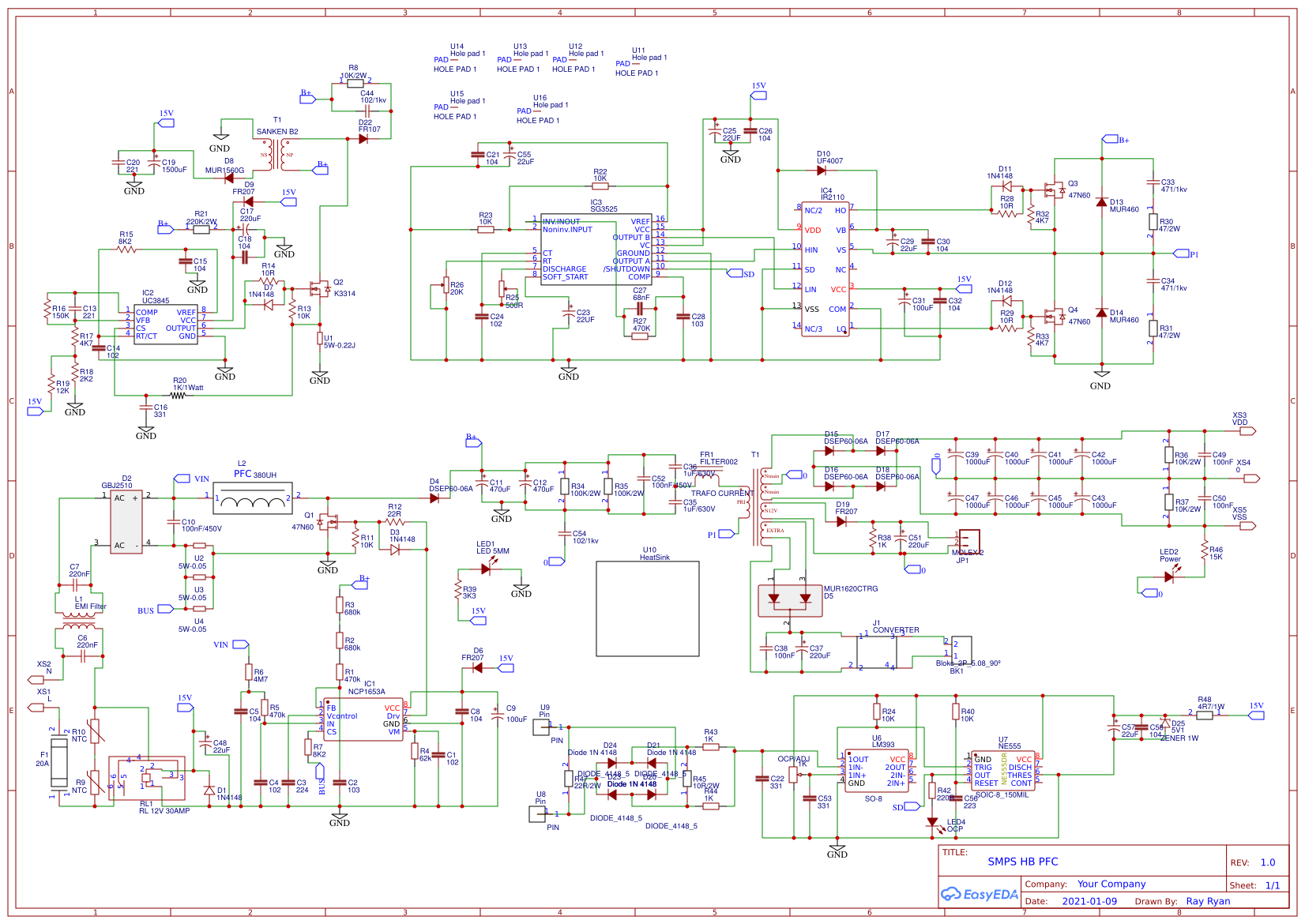 SMPS for Class D amplifier