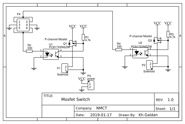 P-channel MOSFET Switchh - EasyEDA