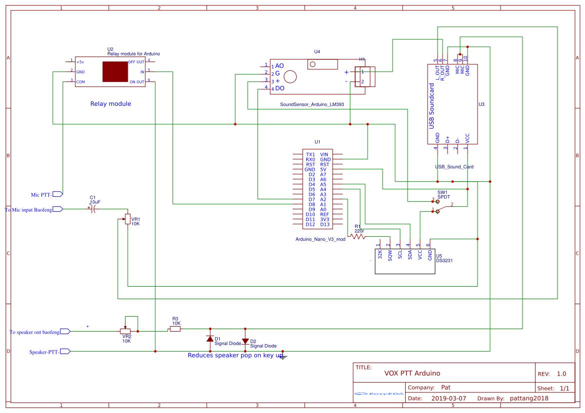 VOX-Arduino-Nano-PTT - EasyEDA