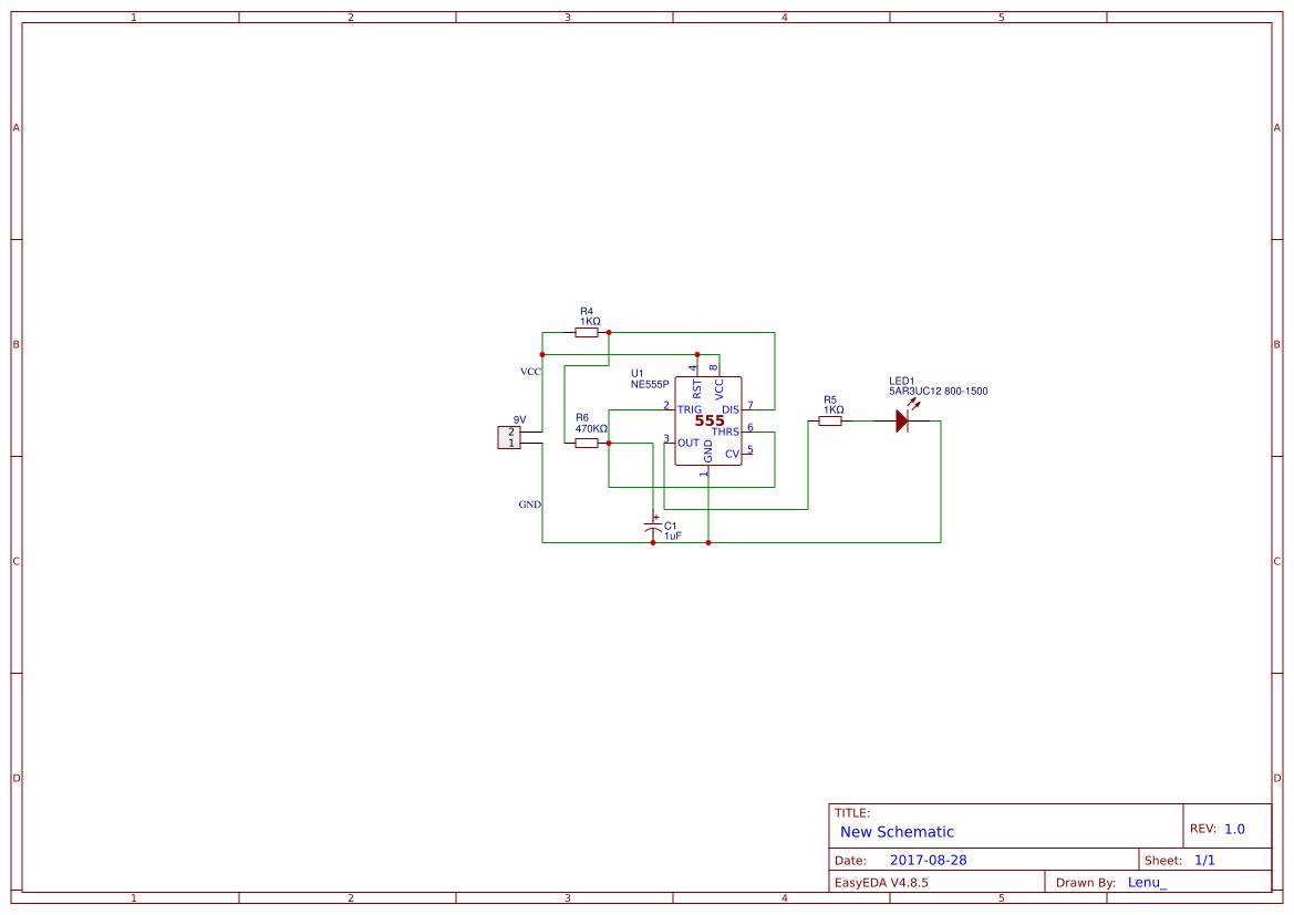 Led Blinking Circuits Search Easyeda 555 Flashing Circuit Blink