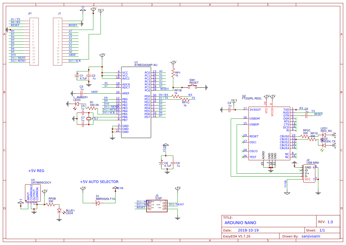 on arduino schematic