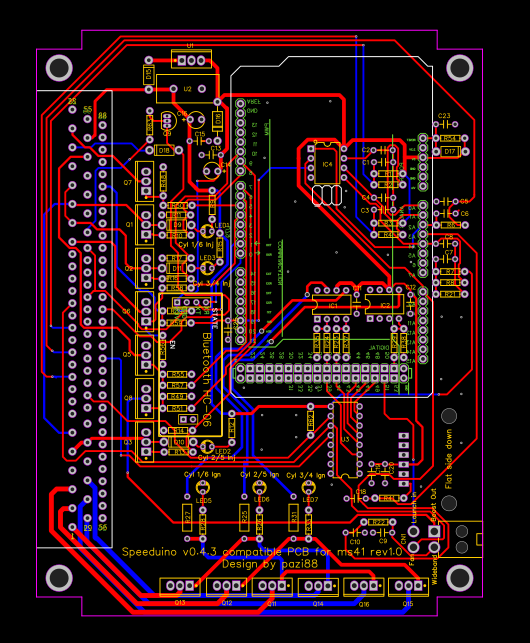 speeduino v0 4 3 compatible PCB for m52 - EasyEDA