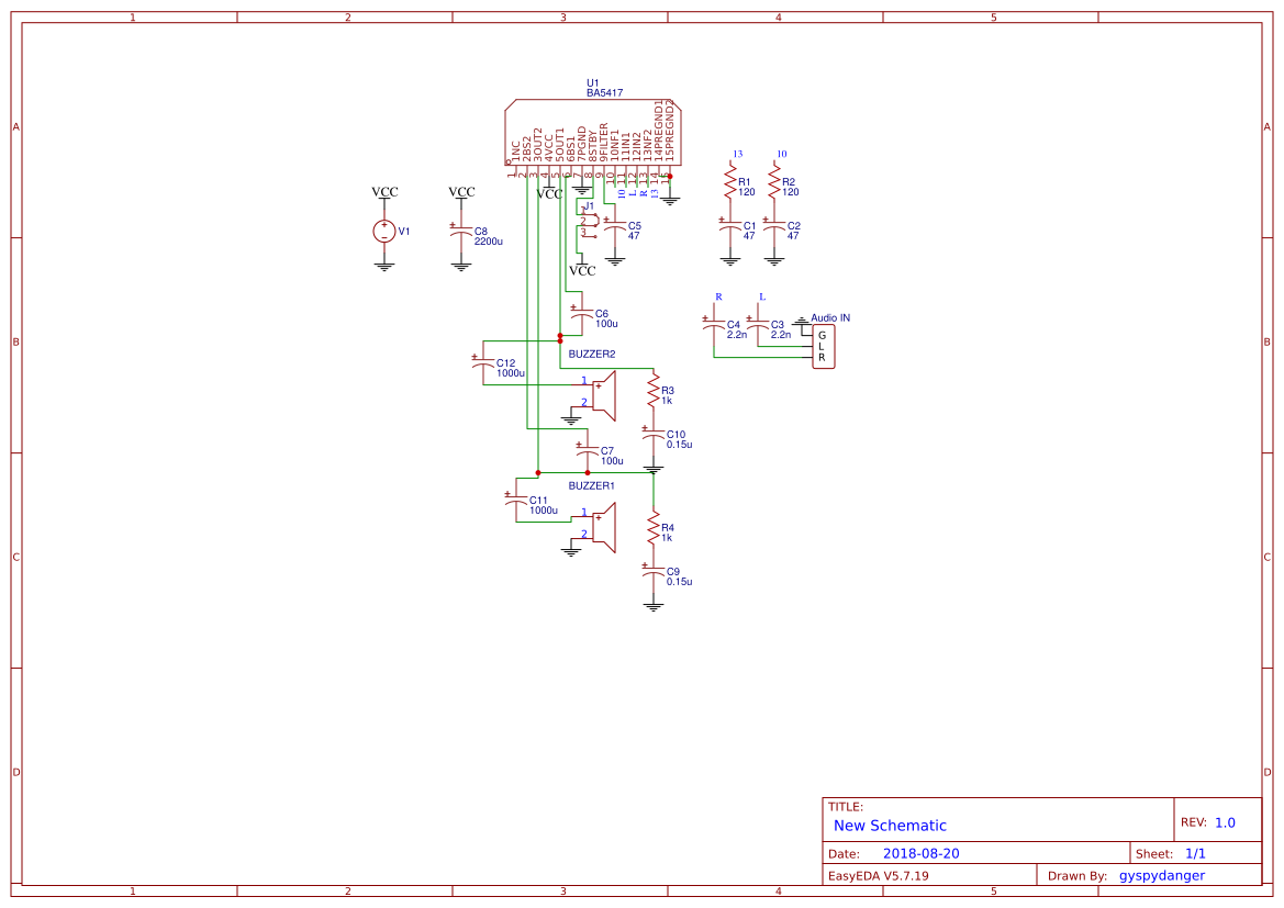 Ba5417 Amplifier Circuit Diagram Simple Wire Data Schema Audio Circuits Easyeda Rh Com Lm386 Microphone Schematic