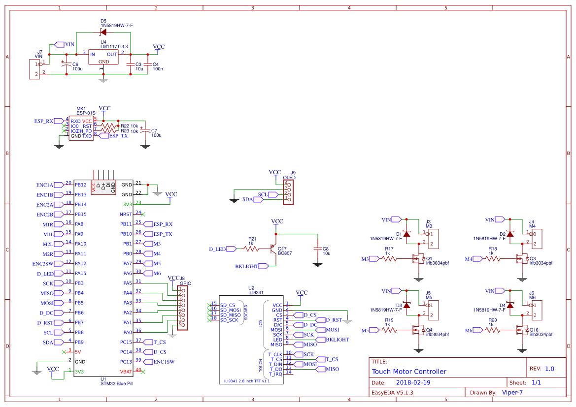 STM32 LCD Motor Driver v2 - EasyEDA