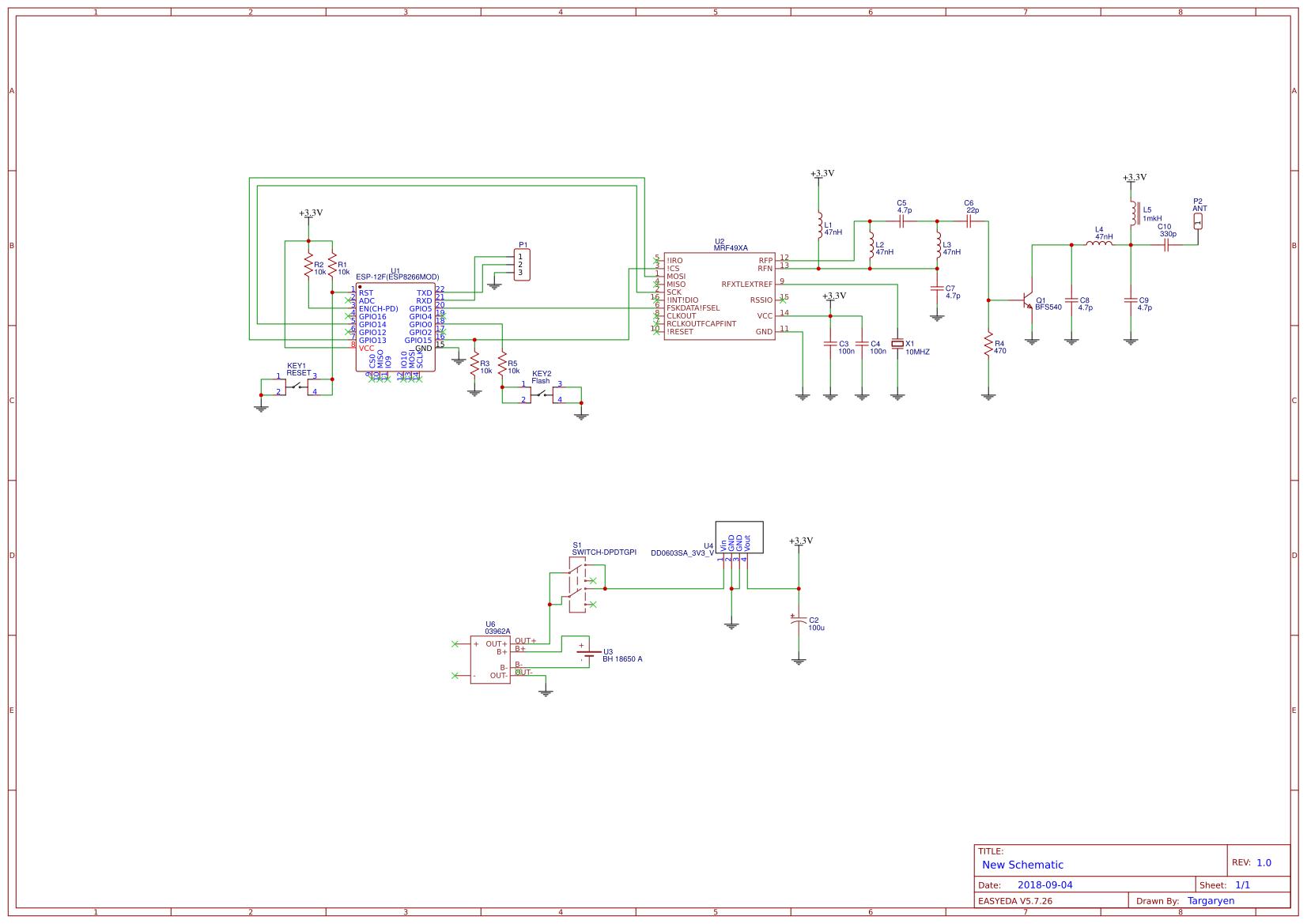 MRF49XA ESP8266 Server - EasyEDA