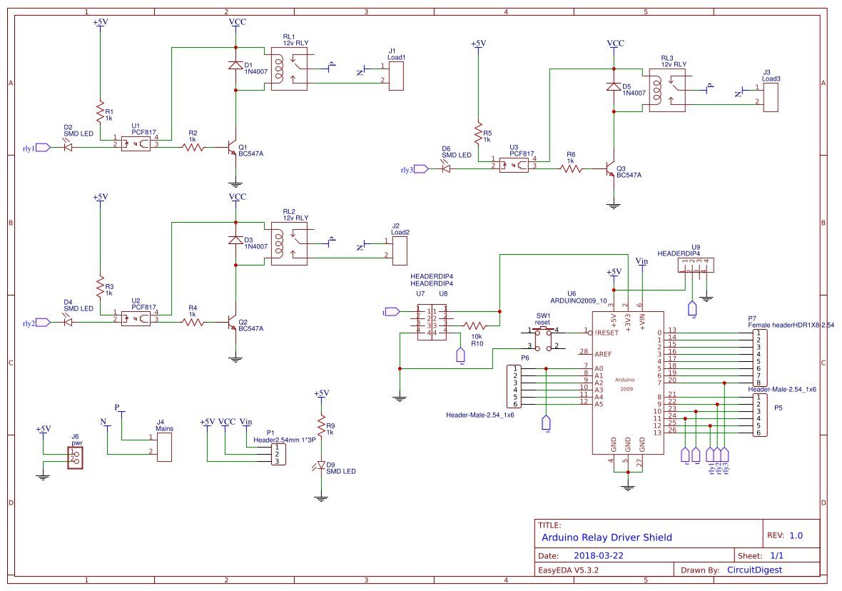 Diy Arduino Relay Driver Shield Pcb