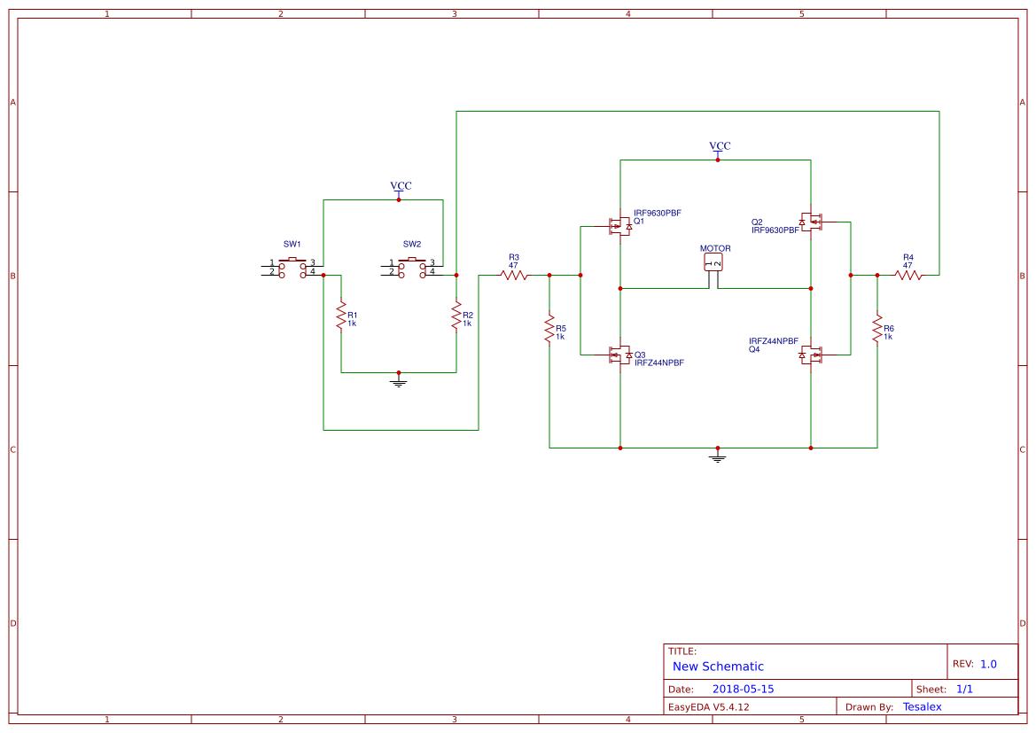 Mosfet H Bridge Easyeda Fet Circuit Diagram Pcb