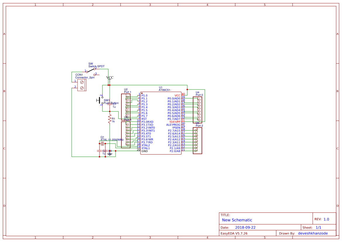 Microcontroller 8051 Search Easyeda Circuit Diagram Of Development Board