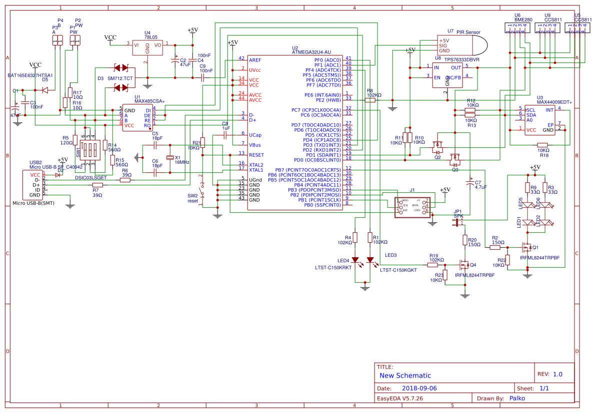 multisensor modbus 5in1 - EasyEDA