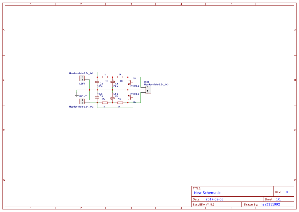 Stereo Mic Preamp Easyeda Very Simple Preamplifiers Using 2n3904 Open In Editor
