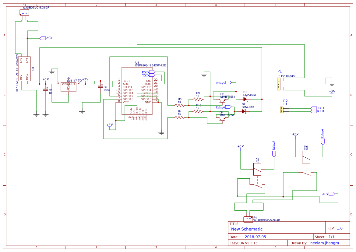 2 Channel Relay Board Easyeda File