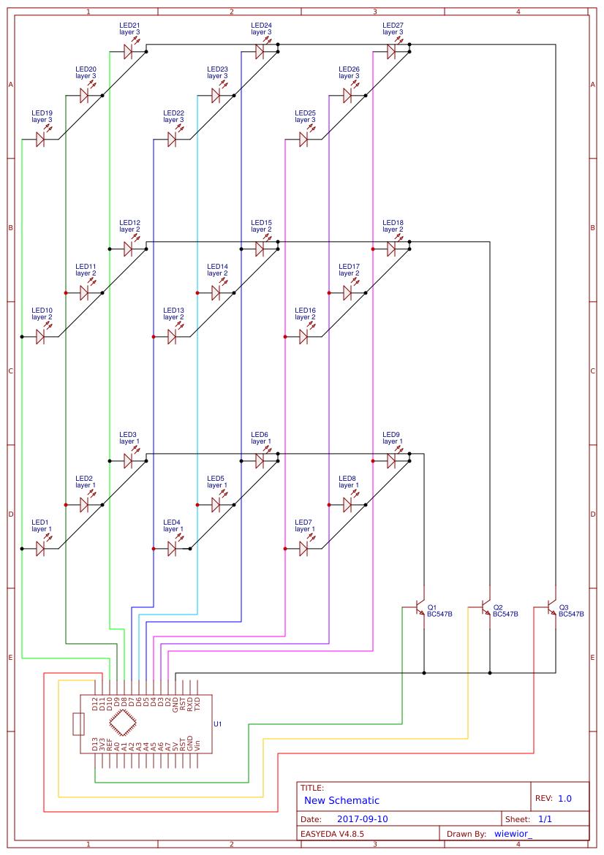 3x3x3 LED cube - EasA