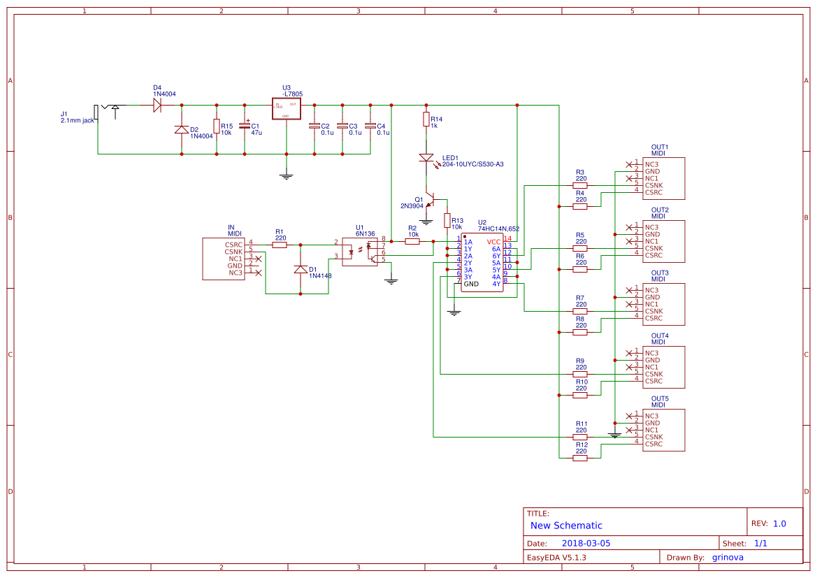 Midi Thru Schematic - Fav Wiring Diagram