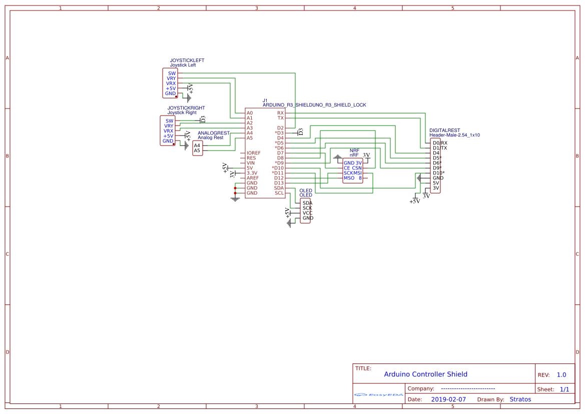 Arduino Uno Controller Shield (POC) - EasyEDA