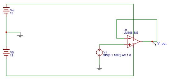 LM358 simulation OK - EasyEDA
