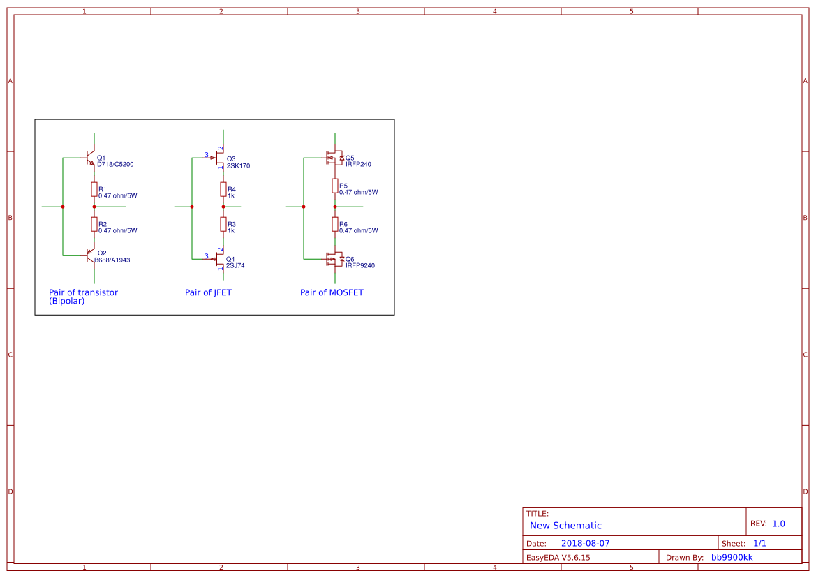 check-matched-transistor-jfet-mosfet - EasyEDA