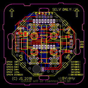 Home automation switch based on ESP8266 D1 with WS2812
