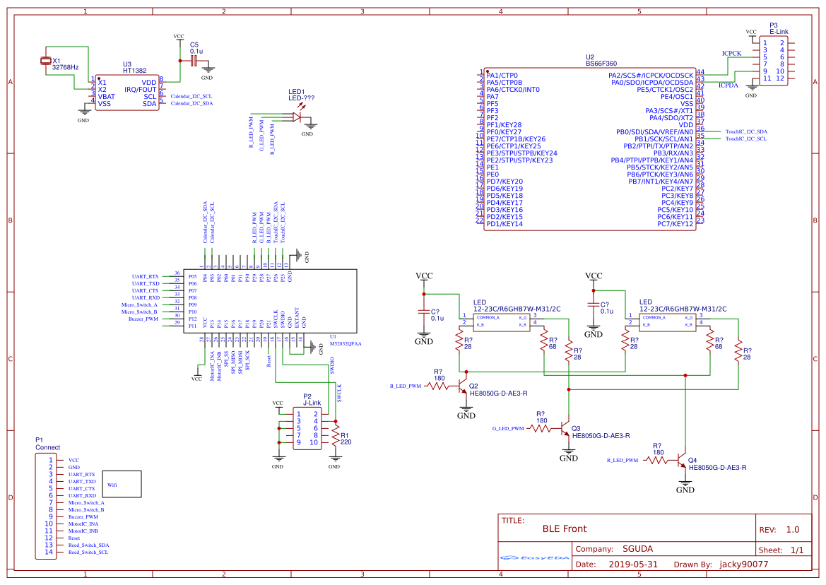 nRF52832 - EasyEDA