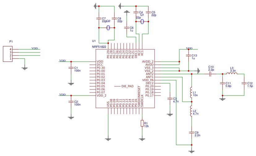 Bluetooth NRF51822 Module - EasyEDA