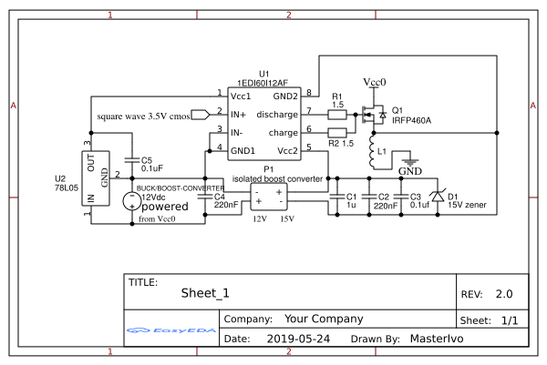 High side gate driver for N-mosfet