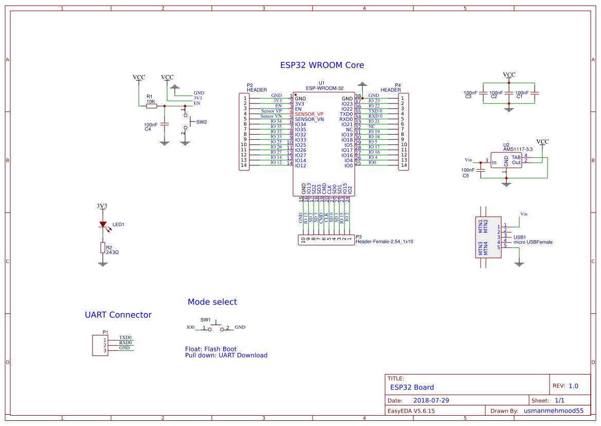 ESP32 Breakout Board - EasyEDA