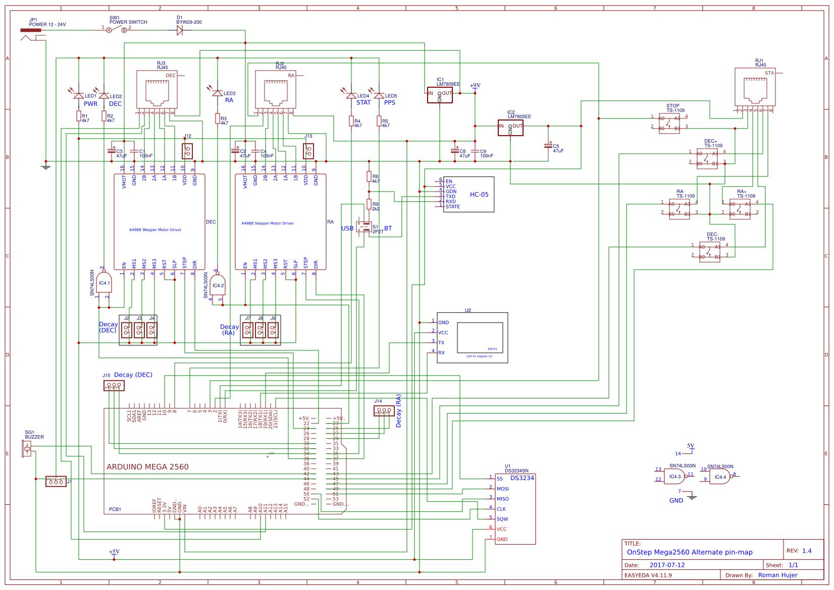 OnStep controller V 1 4 - EasyEDA