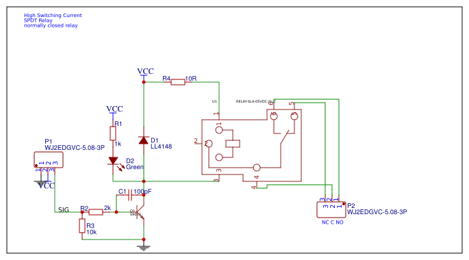 switch spdt search easyedaSpdt Relay Spice Model #13