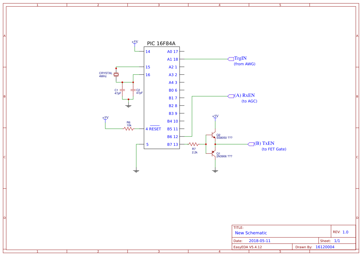 Timing Circuit Easyeda Diagram Sheet 1