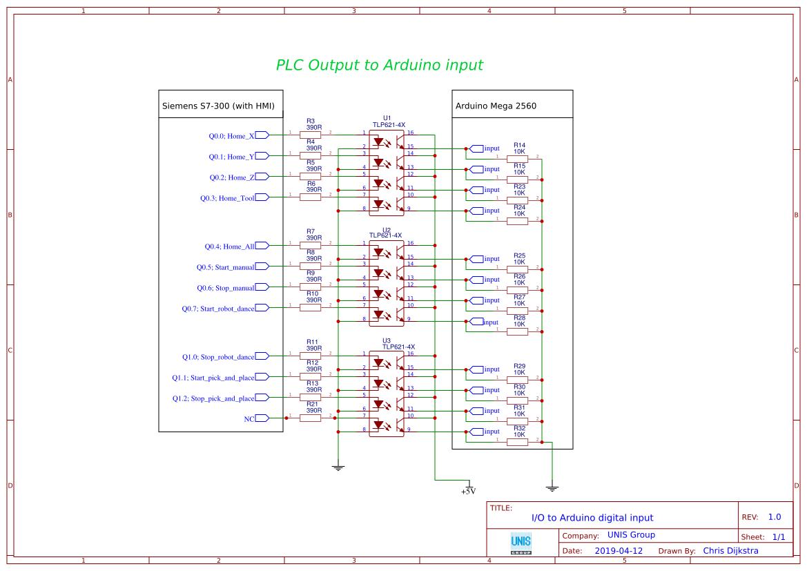 Communication PLC & Arduino - EasyEDA
