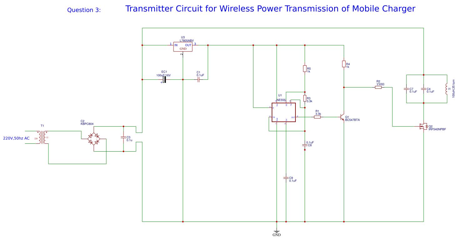 Transmitter Wireless power Transmission - EasyEDA