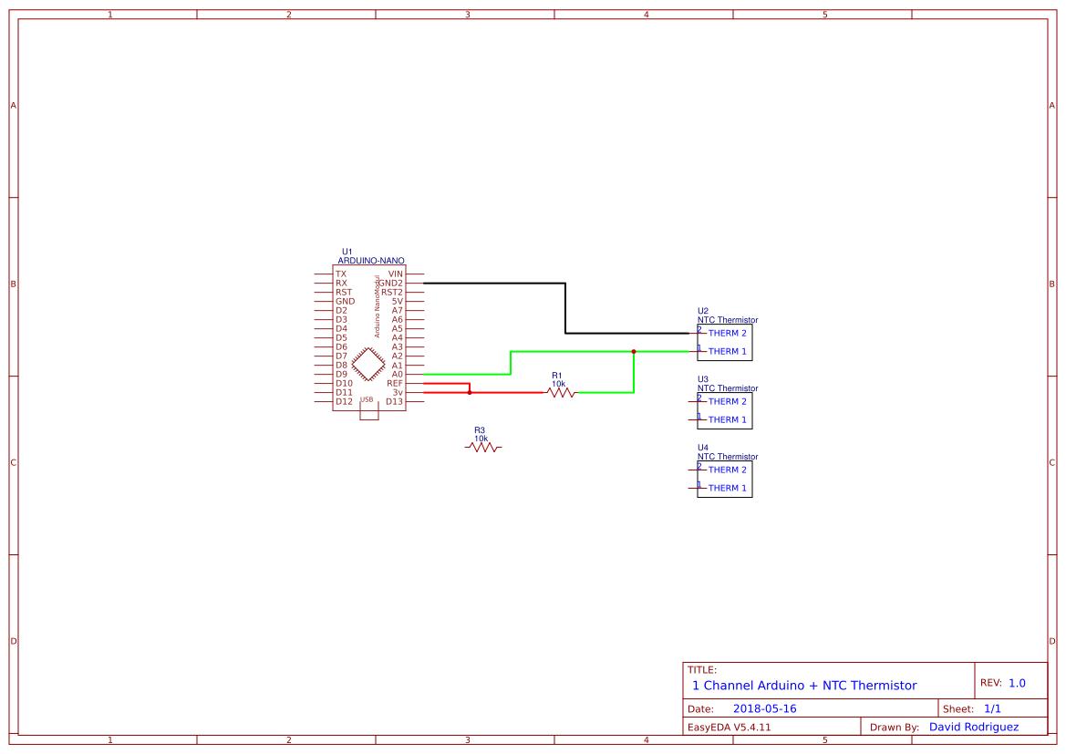 Thermistor Ntc Search Easyeda Arduino 10k Circuit To 3 Thermistors