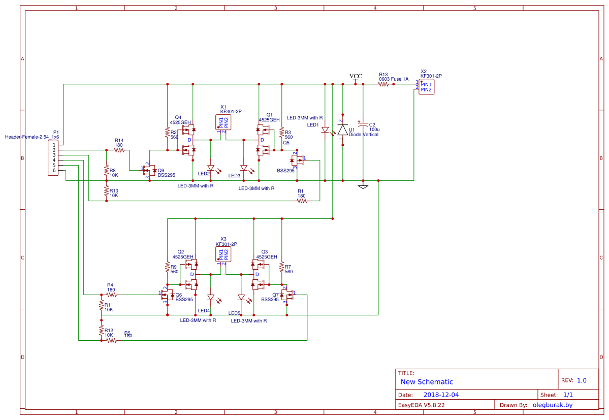 Dual H-Bridge using P and N-channel MOSFETs - EasyEDA
