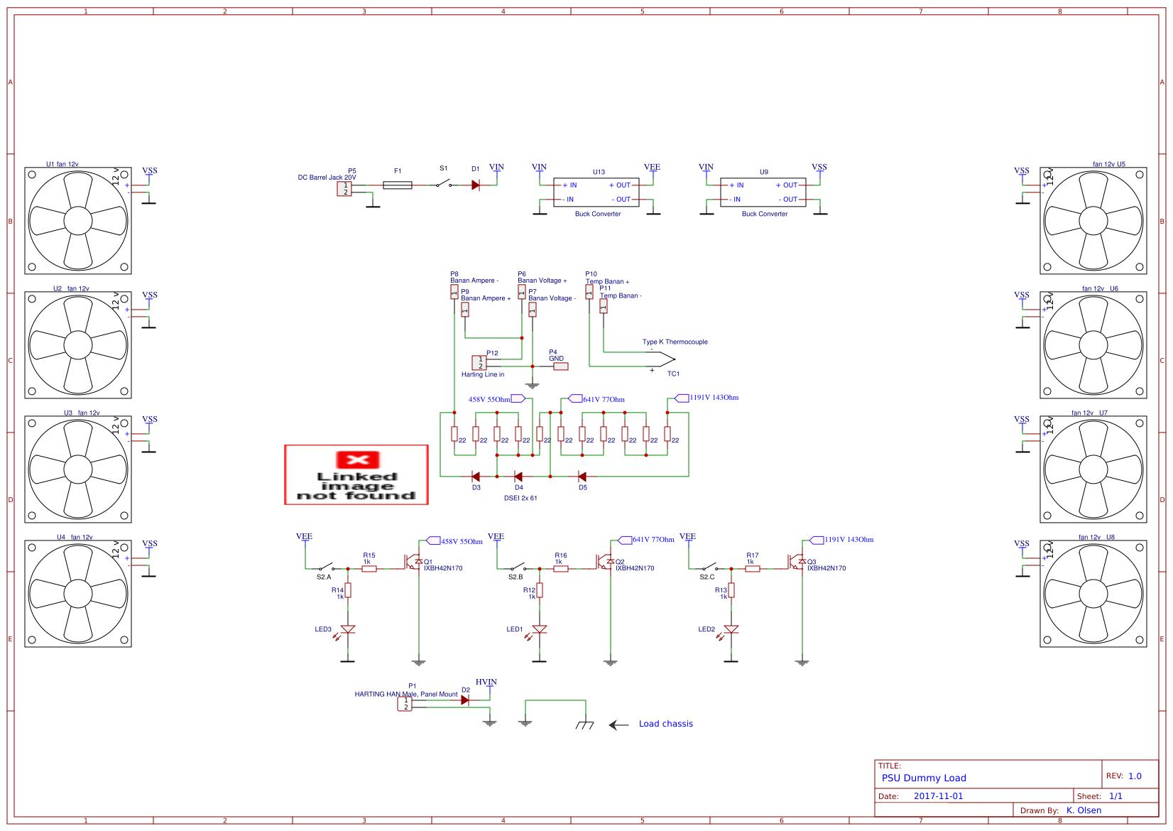 Psu Dummy Load Easyeda Circuit Constant Current Schema Schematic