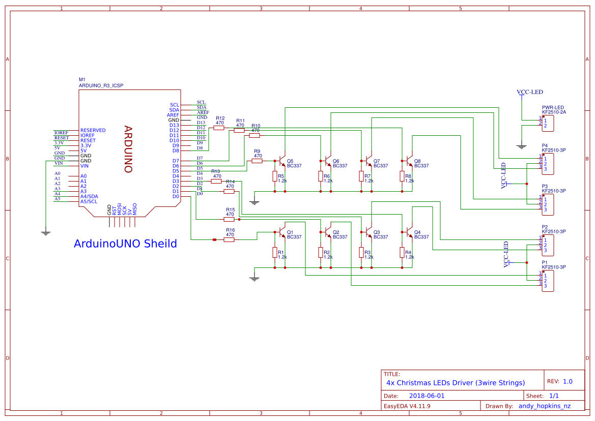 4 String Driver For 3 Wire Xmas Lights Easyeda Wiring Diagram Of X Mas Schematic