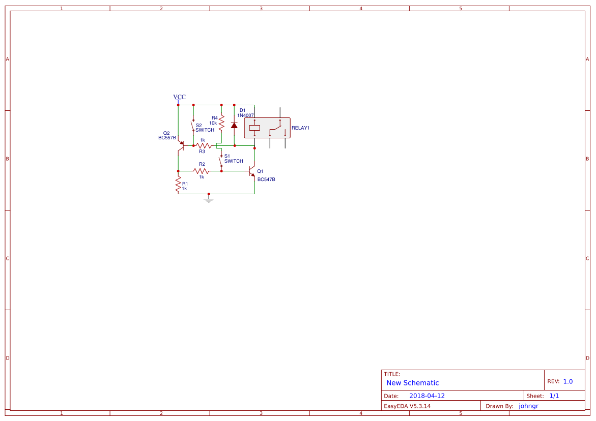 Circuit Amplifier Simple Search Easyeda 20 Watt Stereo Audio Using Tda2005 Diagram On Off For Relays