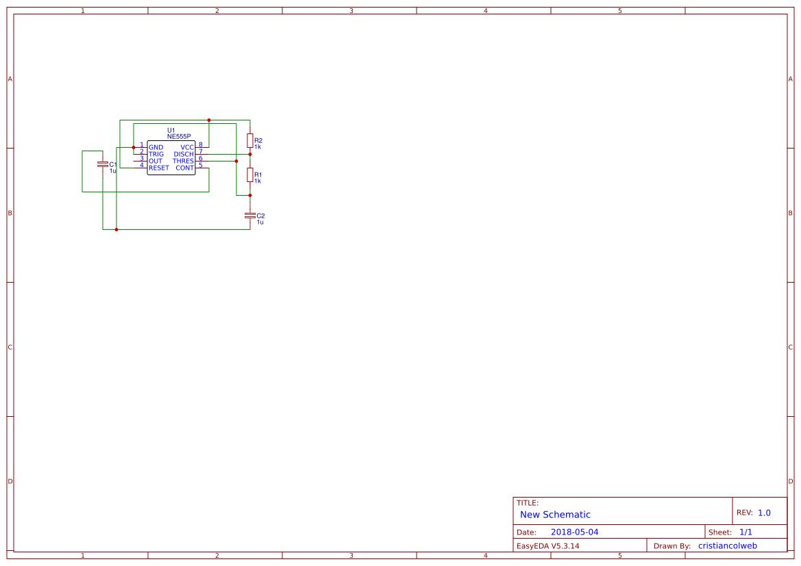 555 Timer Astable Multivibrator Search Easyeda Circuit Diagram