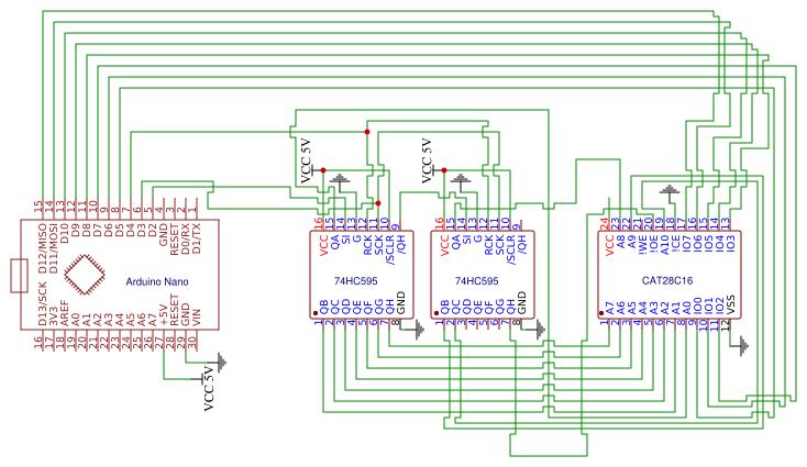 EEPROM programmer - EasyEDA