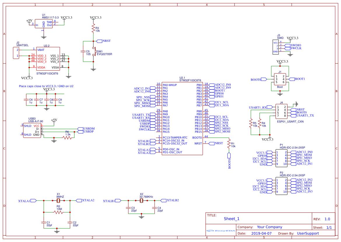 STM32 Test 1 - EasyEDA