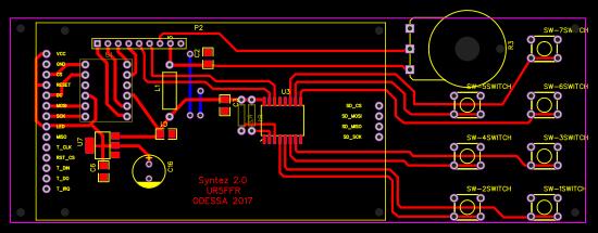 Si570/Si5351 Syntez Interface board - EasyEDA