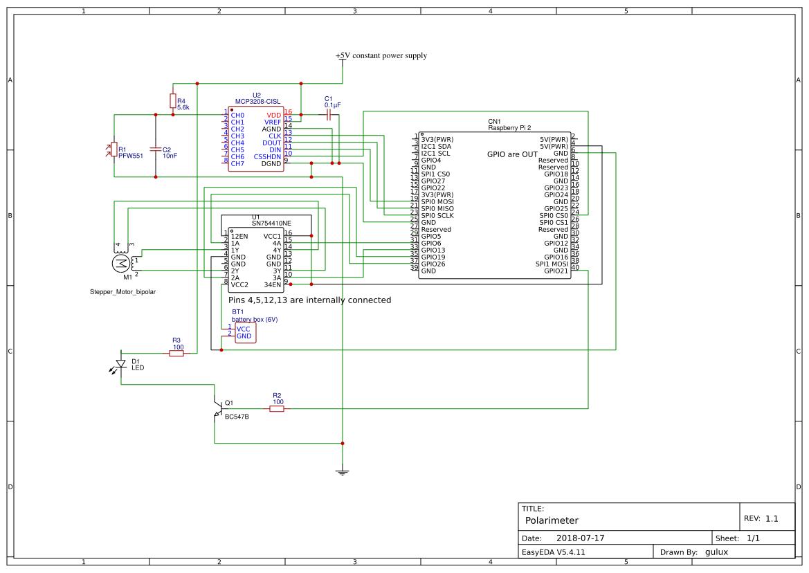 Polarimeter On Raspberrypi Instructables Easyeda