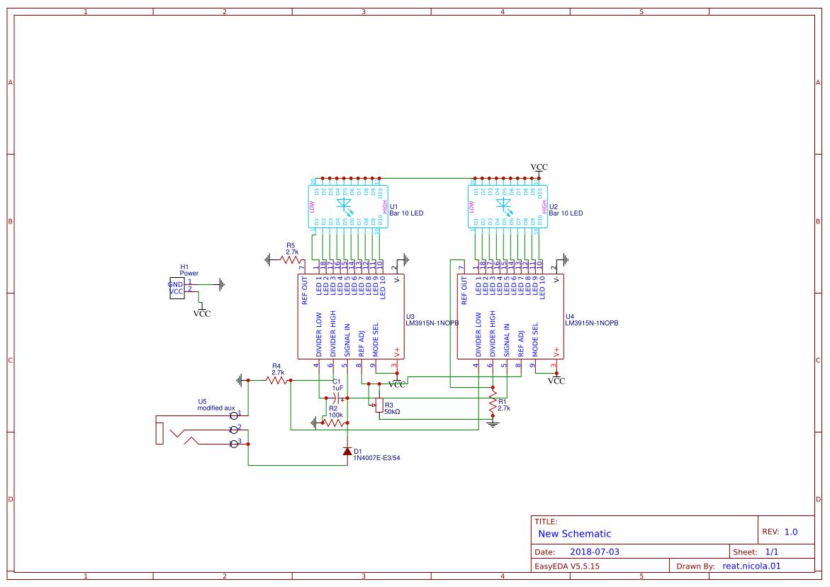 Vumetro Lm3915 Search Easyeda Vu Meter Circuit