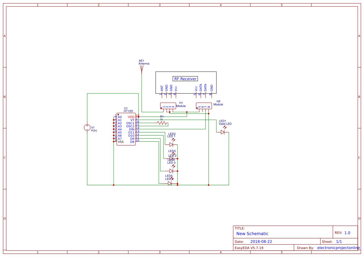 Rf Transmitter Receiver Search Easyeda Circuit Diagram