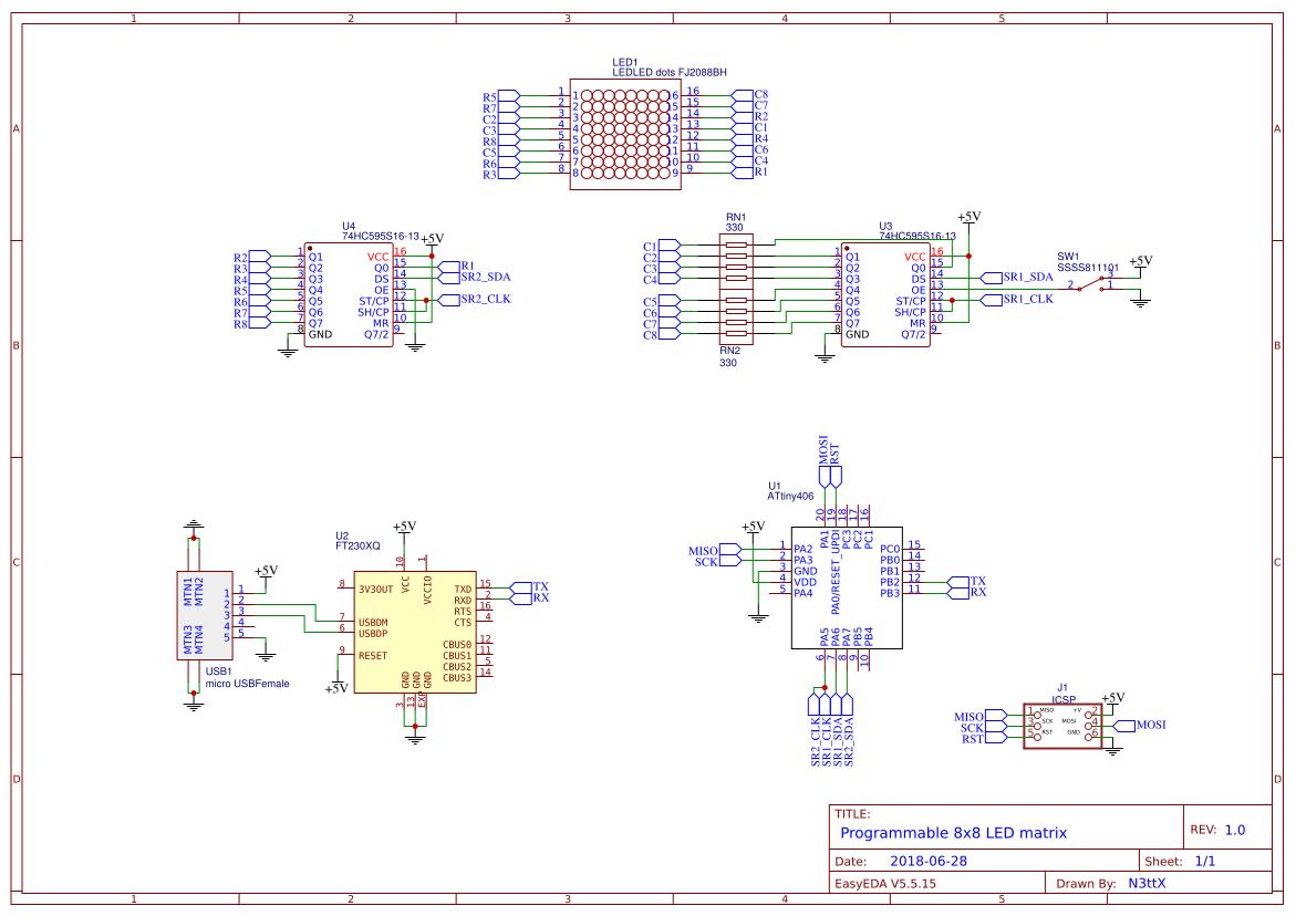led+matrix+8x8+max7219 - Search - EasyEDA
