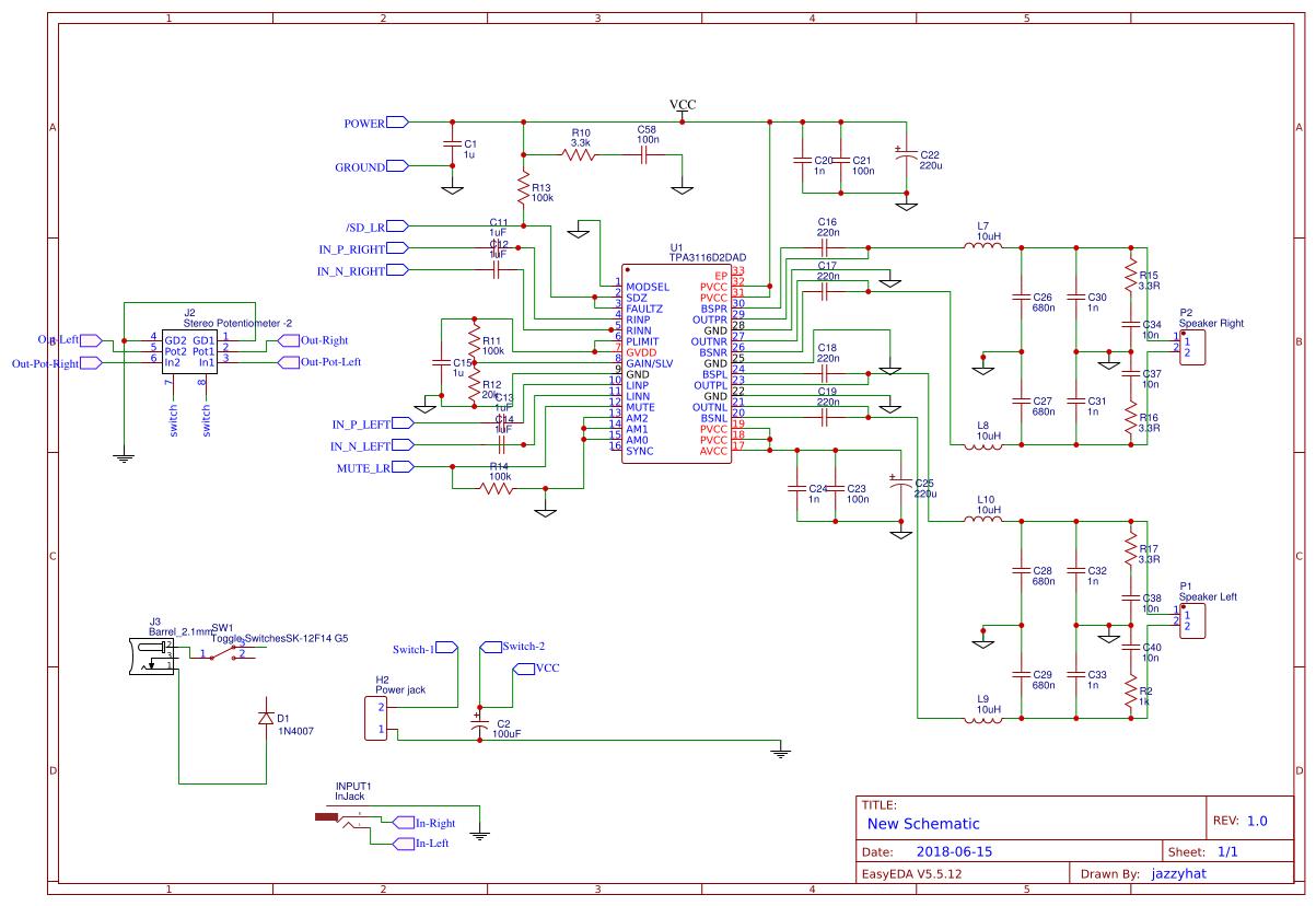 TPA3116-AMP - EasyEDA