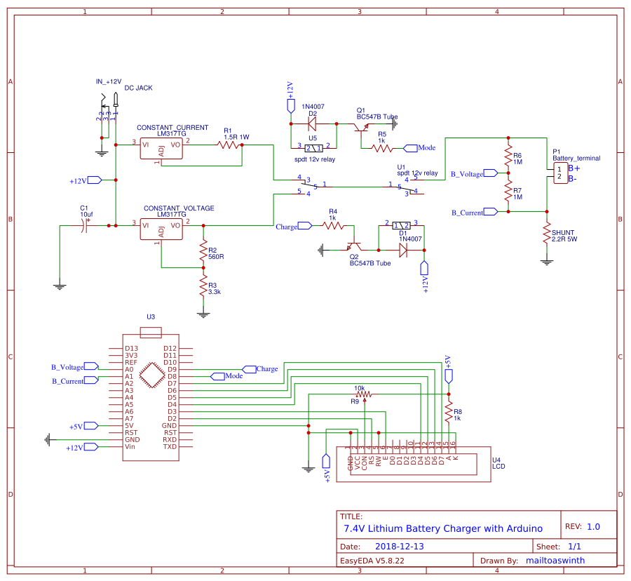 7.4V Lithium Battery Charger Circuit copy copy - EasA on nicad charger schematic, li-ion charger schematic, nimh charger schematic, gel cell charger schematic,