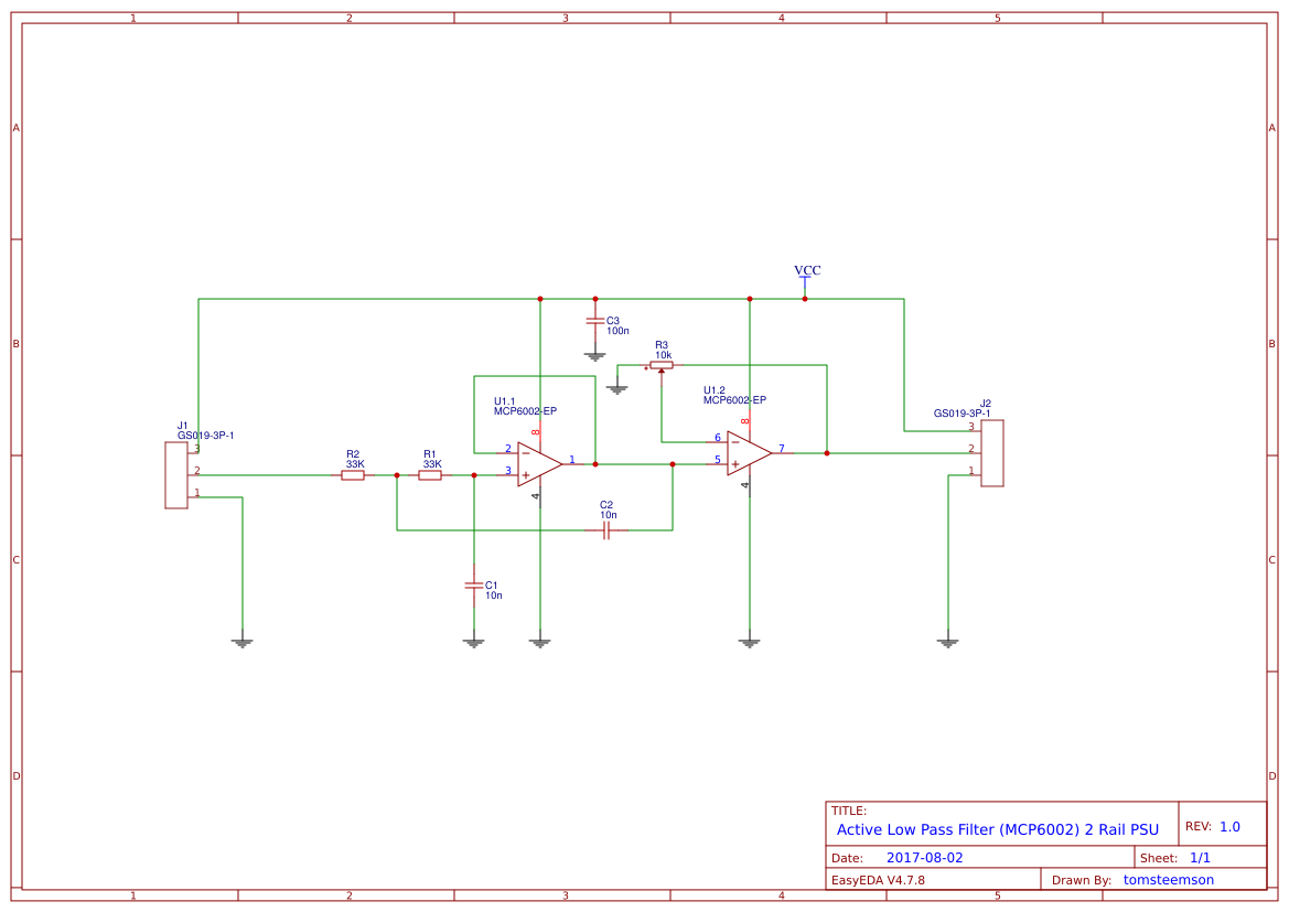 Low Pass Filter Circuite Search Easyeda Rclowpassfiltercircuitdiagramjpg Active