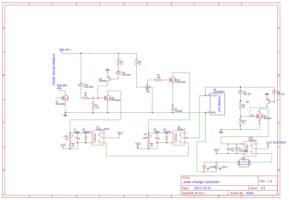 Solar For Charging Battery Search Easyeda Mppt Charge Controller Circuit Diagram